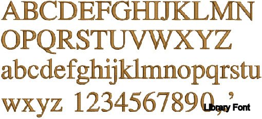 Library Font