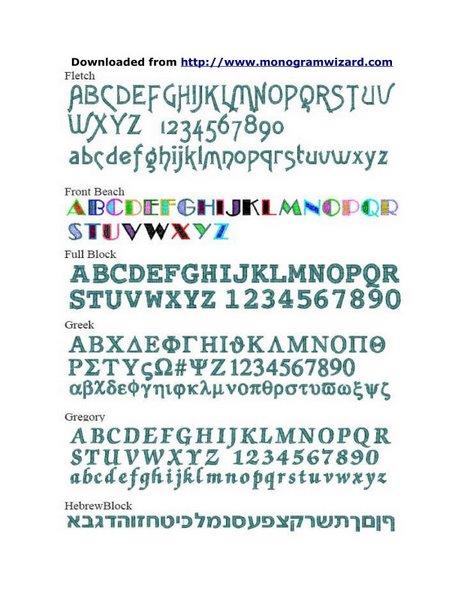 MW Fonts 5