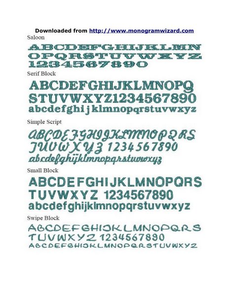MW Fonts 8