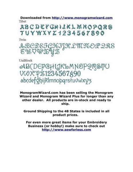 MW Fonts 9